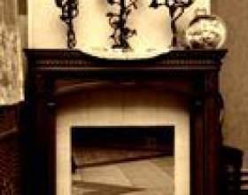 Idées déco dans un salon avec une télévision et une cheminée фото