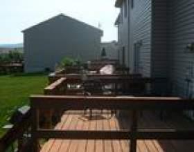 Comment construire une terrasse en bois de 10x24 фото