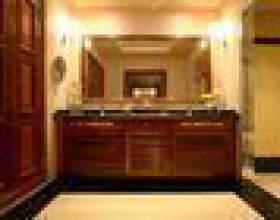 Comment décorer le bord d`un miroir de salle de bain фото