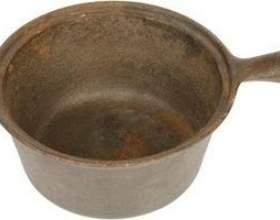 Comment faire pour obtenir la rouille sur une casserole en aluminium фото