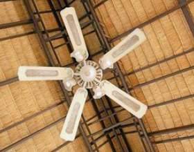 Comment installer un ventilateur de plafond sur un plafond en pente фото