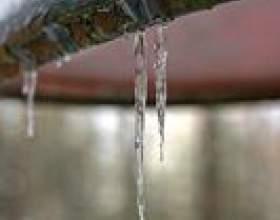 Comment faire fondre les embâcles sur les toits фото