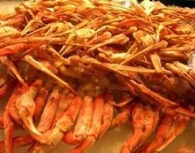 Comment diviser les jambes de crabe roi фото