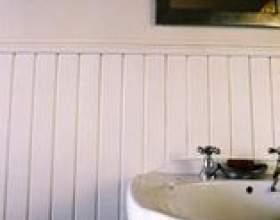 Types de salle de bains lambris фото