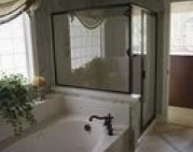 Traitements de fenêtre pour les fenêtres de douche фото